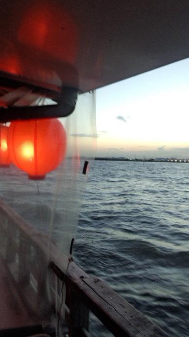 夏の終わりの「屋形船」1